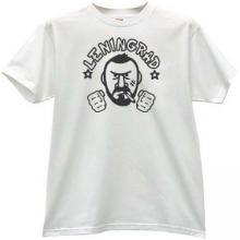 Leningrad russian rock group T-shirt in white