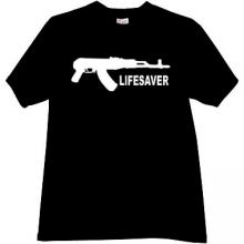 LIFESAVER Cool AK Weapon T-shirt in black