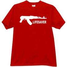 LIFESAVER Cool AK Weapon T-shirt in red