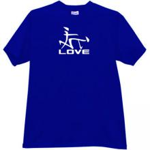 Love Japanese Style Funny T-shirt in blue