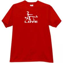 Love Japanese Style Funny T-shirt in red