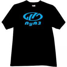 LuAZ Ukrainian automobile manufacturer T-shirt in black