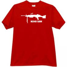 M249 SAW Weapon t-shirt in red