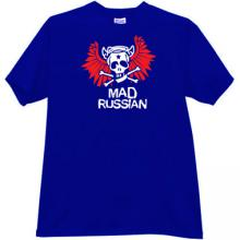 Mad Russian Funny T-shirt in blue
