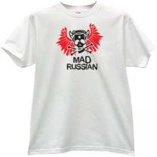 Mad Russian Funny T-shirt in gray