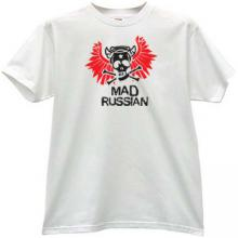 Mad Russian Funny T-shirt in white