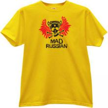 Mad Russian Funny T-shirt in yellow