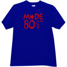 Made in the 80s T-shirt in blue