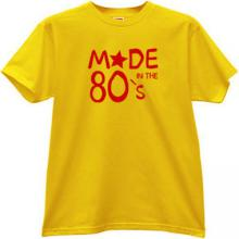 Made in 80s T-shirt in yellow