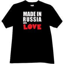 Made in Russia with Love Cool T-shirt in black