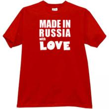 Made in Russia with Love Cool T-shirt in red