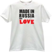 Made in Russia with Love Cool T-shirt in white