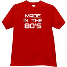 Made in the 80s Cool T-shirt in red