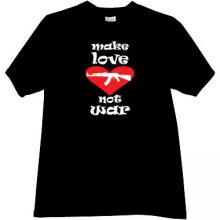 New! Make love not War! Cool T-shirt in black