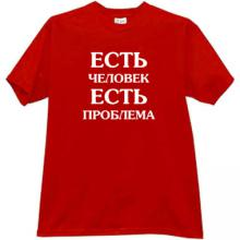 There is a man there is a problem Funny T-shirt in red