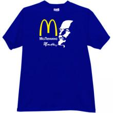 McLenins Funny Russian T-shirt in blue