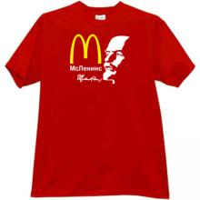 McLenins Funny Russian T-shirt in red