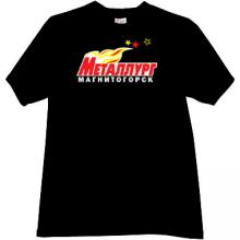Metallurg Magnitogorsk Hockey Club Russian T-shirt in black