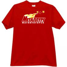 Metallurg Magnitogorsk Hockey Club Russian T-shirt in red