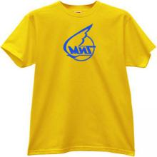 MIG LOGO Russian Aircraft Corporation T-shirt in yellow