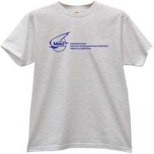 MIG Russian Aircraft Corporation Logo T-shirt in gray