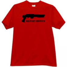 Military Shotgun T-shirt in red
