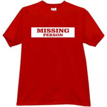 MISSING PERSON Cool T-shirt in red
