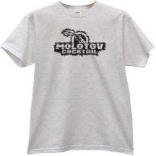 Molotov cocktail T-shirt in gray