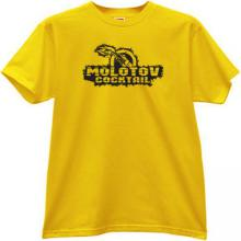 Molotov cocktail T-shirt in yellow