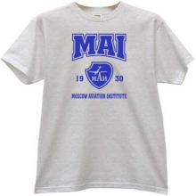 MAI Moscow Aviation Institute T-shirt in gray