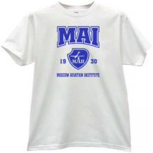 MAI Moscow Aviation Institute T-shirt in white