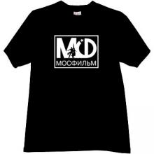 MOSFILM Logo Russian T-shirt in black
