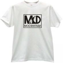 MOSFILM Logo Russian T-shirt in white