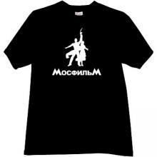 MOSFILM Russian popular film studio T-shirt in black