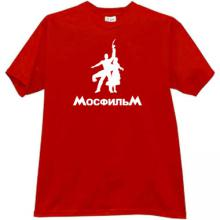MOSFILM Russian popular film studio T-shirt in red