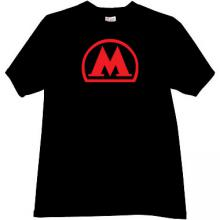 Moscow Metro T-shirt in black