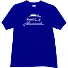 MOSKVICH 412 Russian Old Car T-shirt in blue