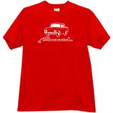 MOSKVICH 412 Russian Old Car T-shirt in red