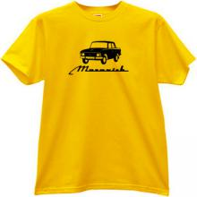 MOSKVICH 412 Russian Old Car T-shirt in yellow