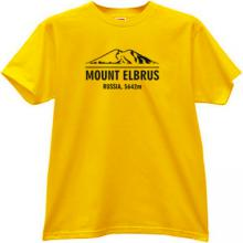 Mount Elbrus Russia 5642 m Cool Adventure yellow T-shirt