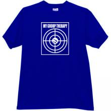 My Group Therapy Funny T-shirt in blue