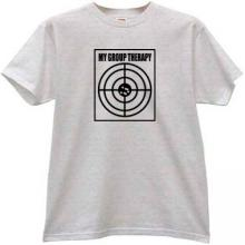 My Group Therapy Funny T-shirt in gray
