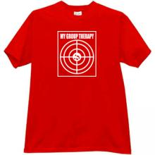 My Group Therapy Funny T-shirt in red