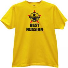 New! Best Russian Patriotic T-shirt in yellow