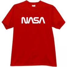 NASA T-shirt in red