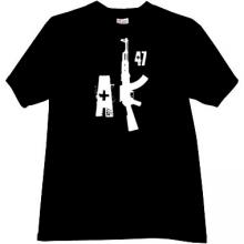 New AK47 weapon T-shirt in black
