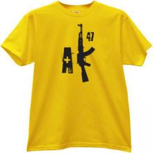 New AK47 weapon T-shirt in yellow