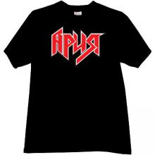 ARIA Russian rock band T-shirt in black