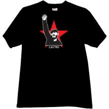 CASTRO Russian Leader T-shirt in black