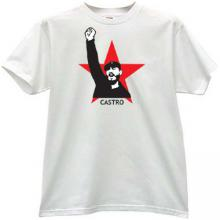 CASTRO Russian Leader T-shirt in white